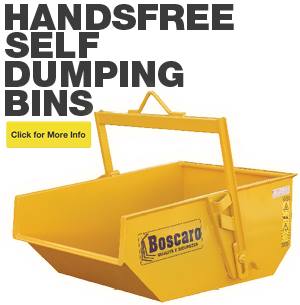 Hands Free Self Dumping Bins